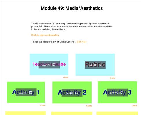 Media: Aesthetics | Supplemental Spanish Module 49