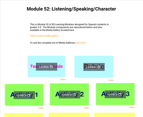 Listening: Speaking and Character   Supplemental Spanish Module 52