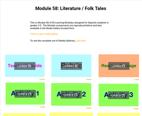 Literature: Folk Tales | Supplemental Spanish Module 58
