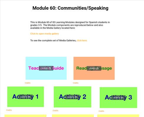 Communities: Speaking | Supplemental Spanish Module 60