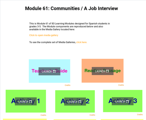 Communities: A Job Interview | Supplemental Spanish Module 61