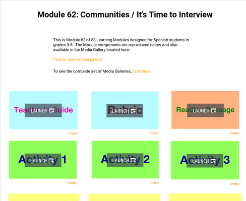 Communities: It's Time to Interview | Supplemental Spanish Module 62