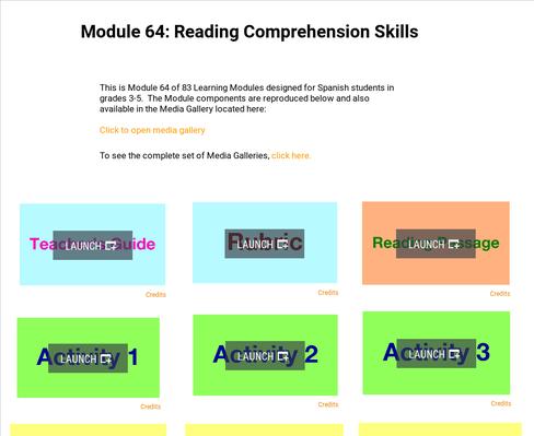Reading Comprehension Skills | Supplemental Spanish Module 64