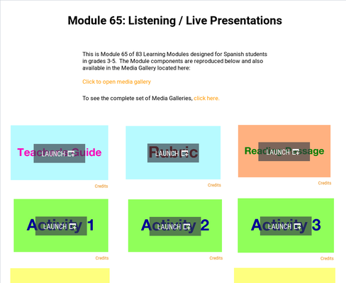 Listening: Live Presentations | Supplemental Spanish Module 65