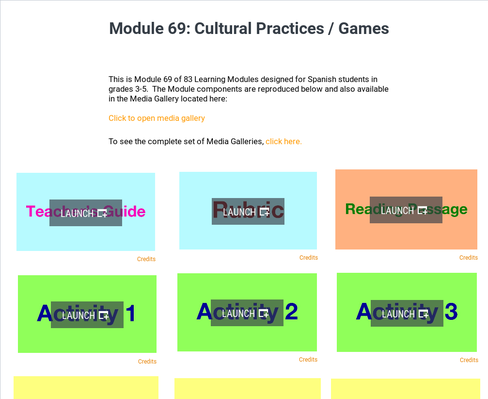 Cultural Practices: Games | Supplemental Spanish Module 69
