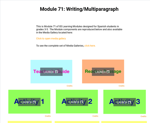 Writing: Multiparagraph | Supplemental Spanish Module 71
