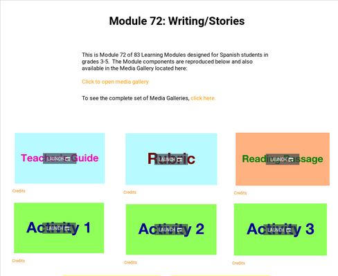 Writing: Stories | Supplemental Spanish Module 72