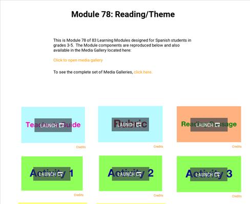Reading: Theme | Supplemental Spanish Module 78