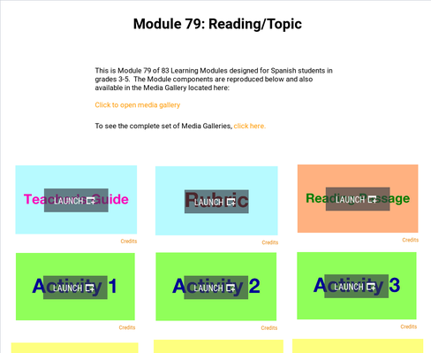 Reading: Topic | Supplemental Spanish Module 79