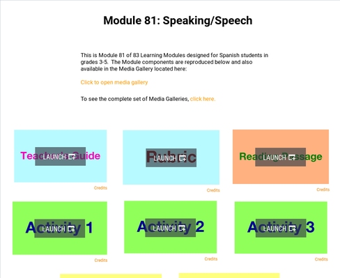 Speaking: Speech | Supplemental Spanish Module 81