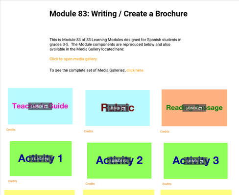 Writing: Create a Brochure | Supplemental Spanish Module 83