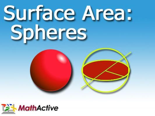 Surface Area of Spheres | Spanish Voice