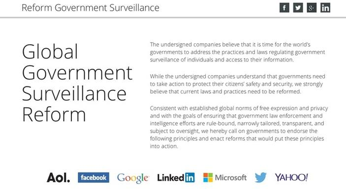 Tech Giants Call for Tighter Limits on Government Surveillance