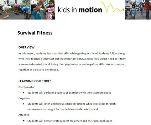 Survival Fitness Lesson Plan