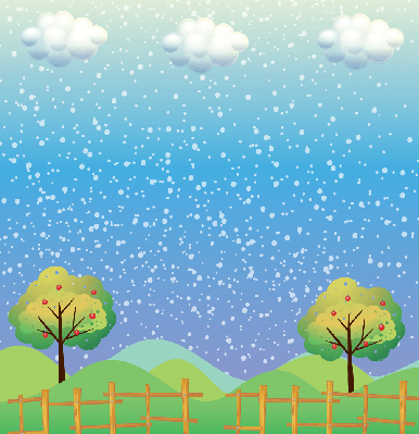 Snowflakes at the Hills | Clipart