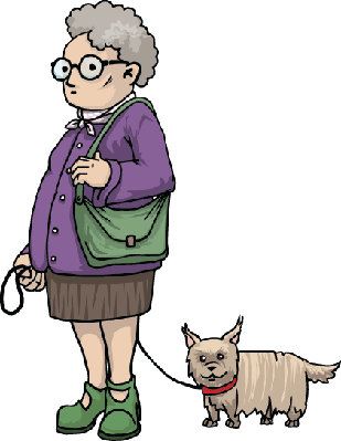 Old Lady | Clipart