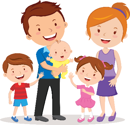Happy Family Portrait | Clipart