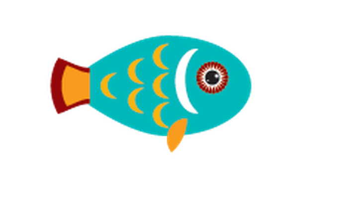 Animals of Australia - Blue Fish | Clipart