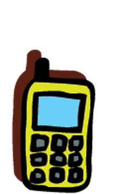 Electronics - Cell Phone 2 | Clipart
