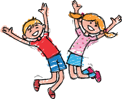 Happy Boy and Girl | Clipart
