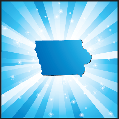 Blue Iowa | Clipart