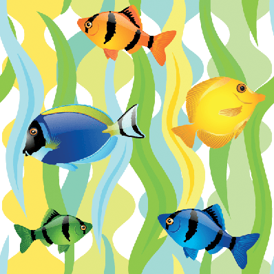 Seamless Pattern With Fishes | Clipart