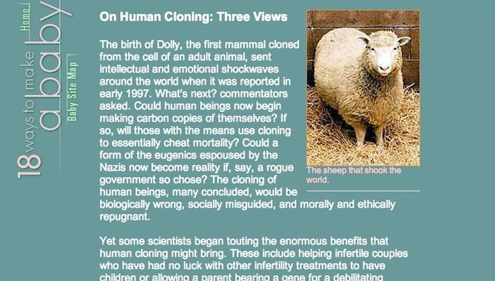 animal cloning science engineering technology  on human cloning