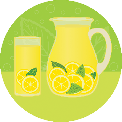 Glass of Lemonade With Mint | Clipart