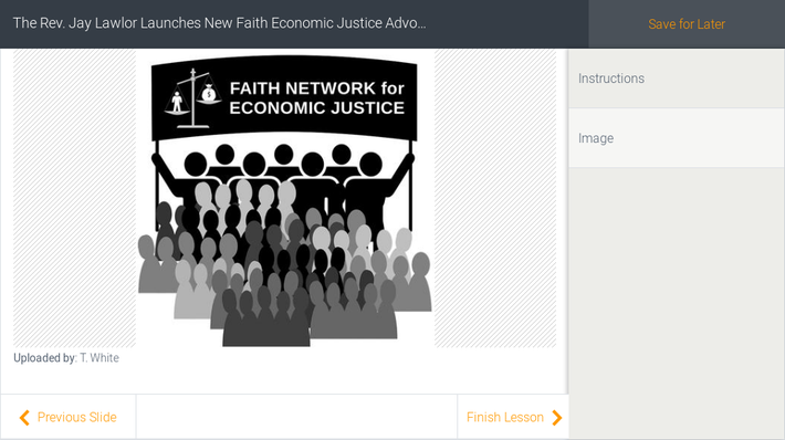 The Rev. Jay Lawlor Launches New Faith Economic Justice Advocacy Group in Support of America's Goals for 2030