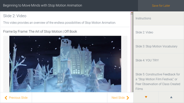 Beginning to Move Minds with Stop Motion Animation