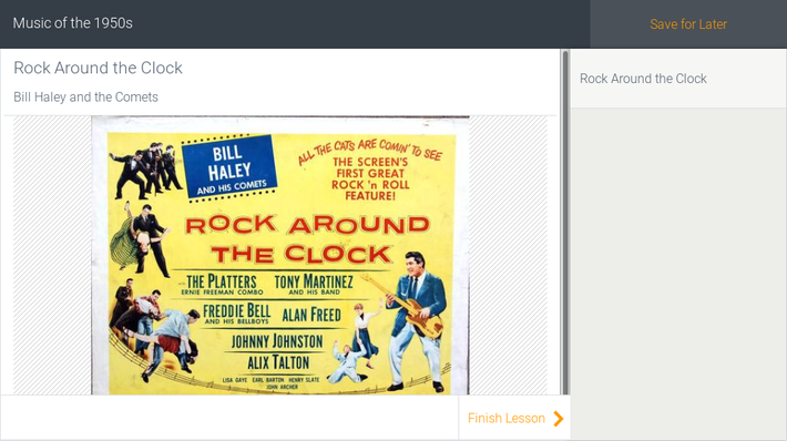 Music of the 1950s