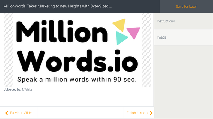 MillionWords Takes Marketing to new Heights with Byte-Sized Videos