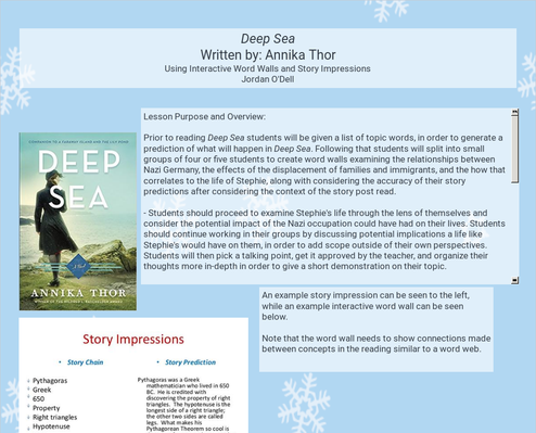 Interactive Word Walls and Story Impressions