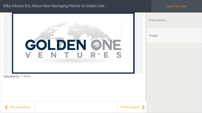 M&A Advisor Eric Allison Now Managing Partner at Golden One Ventures