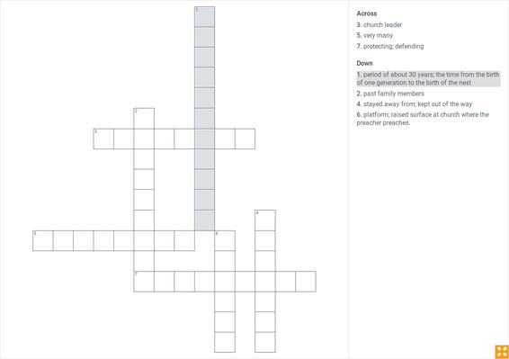 my brother martin vocabulary crossword