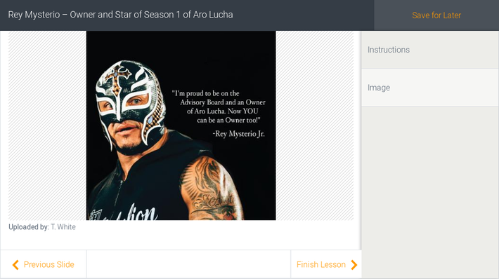 Rey Mysterio – Owner and Star of Season 1 of Aro Lucha