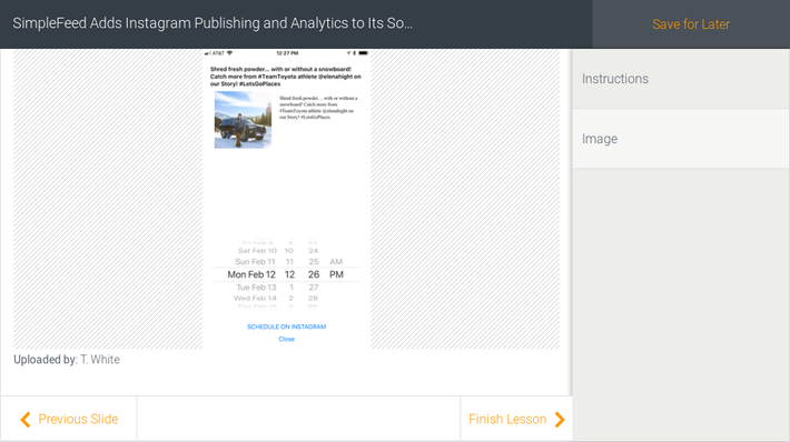SimpleFeed Adds Instagram Publishing and Analytics to Its Social Syndication Hub