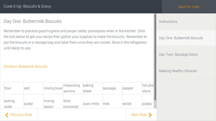Cook it Up- Biscuits & Gravy