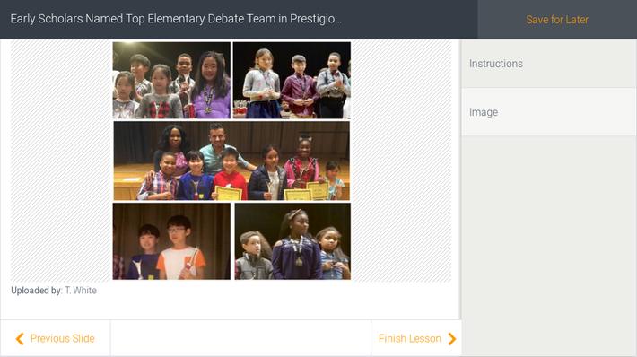 Early Scholars Named Top Elementary Debate Team in Prestigious NYC Tournament