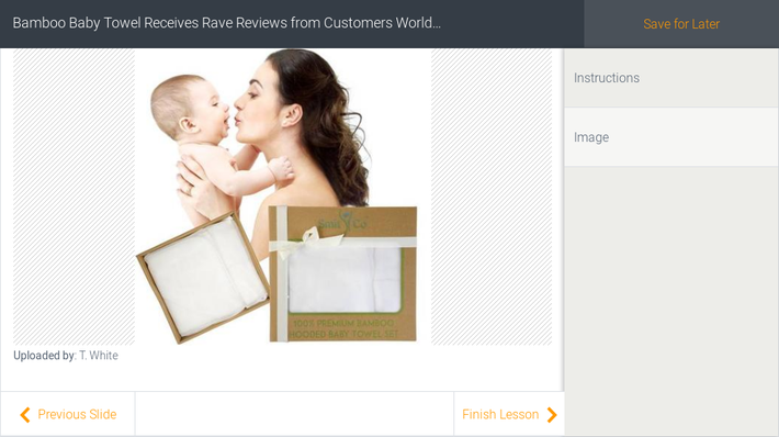 Bamboo Baby Towel Receives Rave Reviews from Customers Worldwide