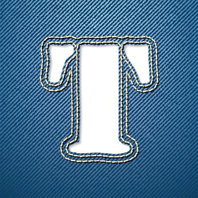 Denim Jeans: Letter T | Clipart