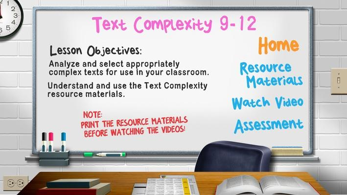 Text Complexity Grade 9-12