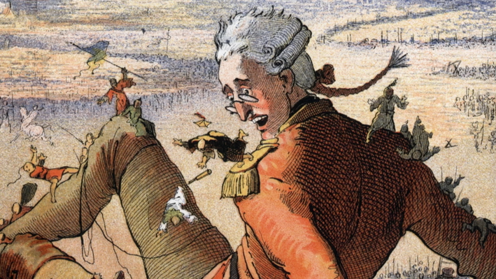 Gulliver is attacked by Liliputians