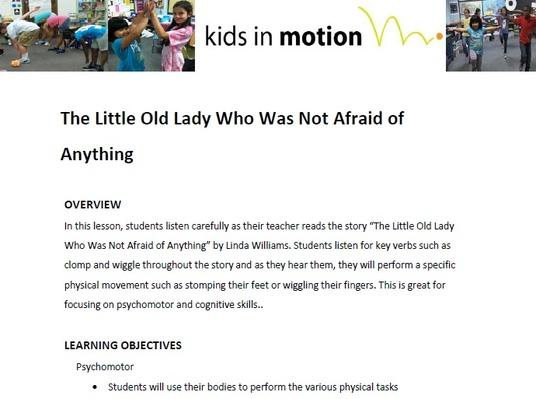 The Little Old Lady Who Was Not Afraid Of Anything Lesson Plan