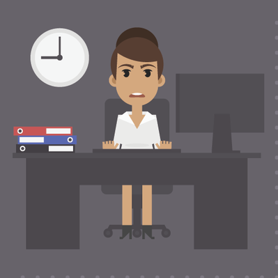 Woman at Table in Different Versions -1 | Clipart