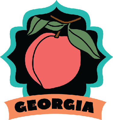 Georgia luggage label or travel sticker | Clipart