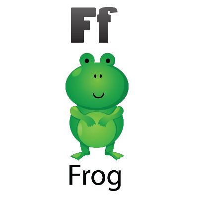 Animal Alphabet - F for Frog | Clipart
