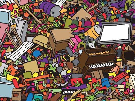 Junk Background | Clipart