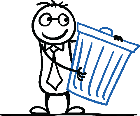 Here Is The Rubbish Bin | Clipart
