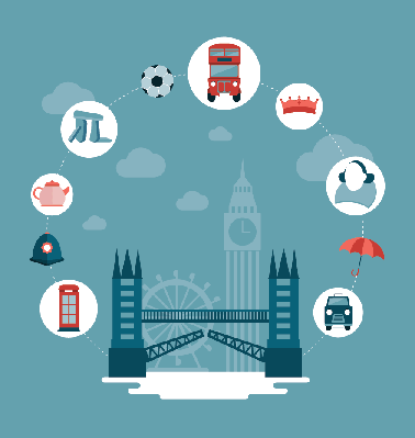 London and Uk Concept Illustration   Clipart